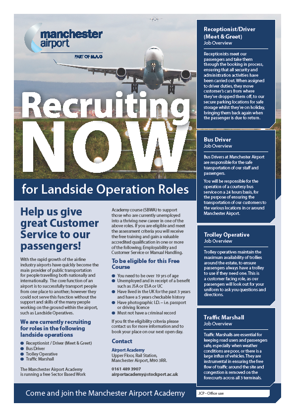 Unemployed? Want To Work At The Airport? Get Yourself On