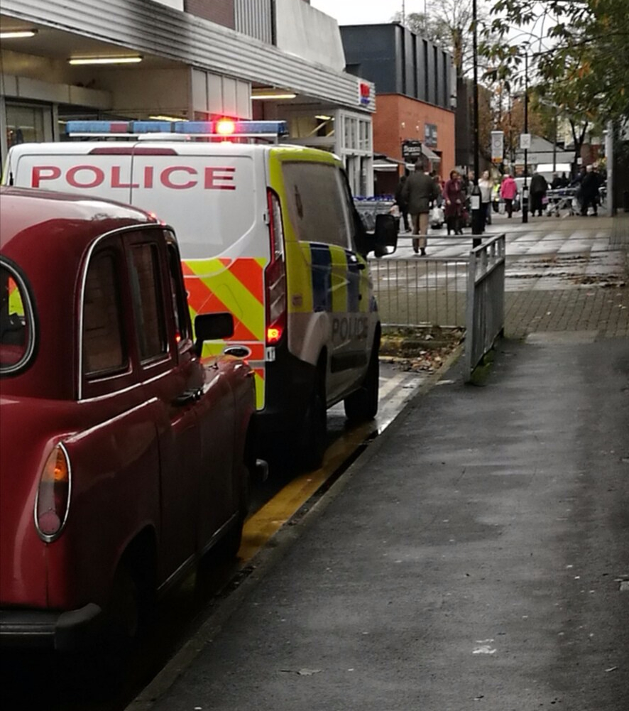 Police called to Tesco's in Sale this afternoon