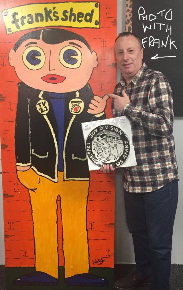 Paul Wilde with Frank artwork EMP M33