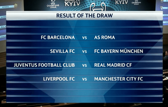 Manchester City take on Liverpool in the quarter finals of the Champions League