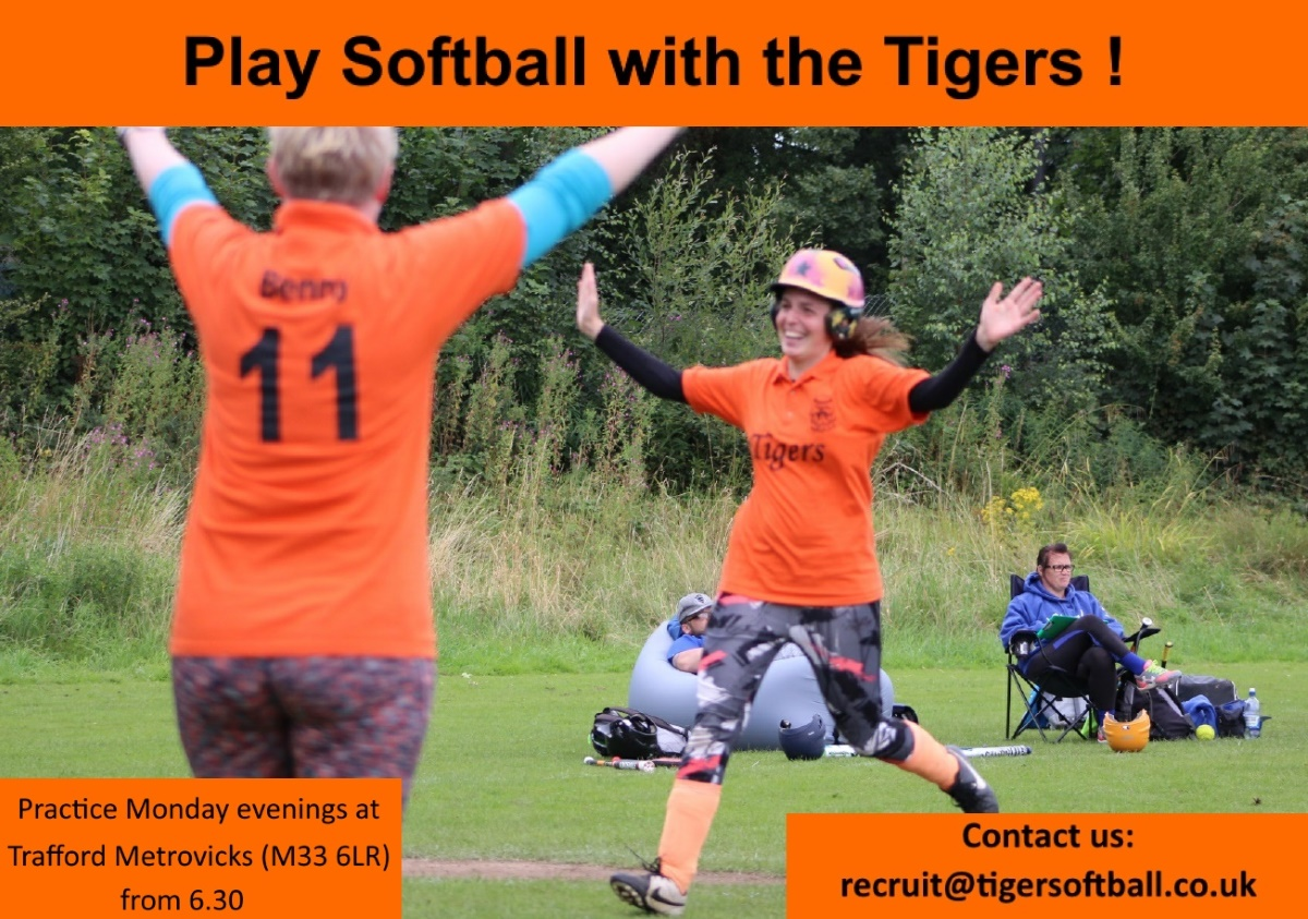 Play softball in Trafford with some friendly Tigers