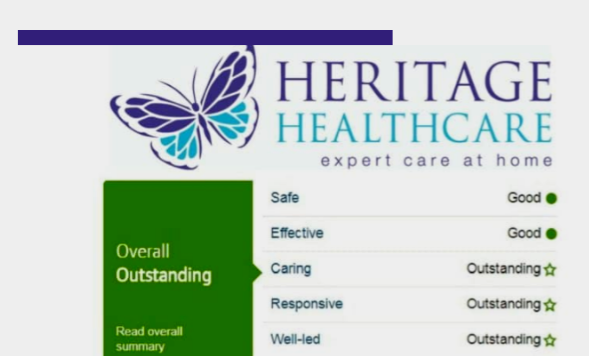 Sale based care home provider gets an outstanding rating