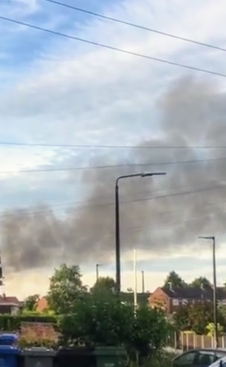 Huge fire at a factory in Irlam shuts down all roads in the area
