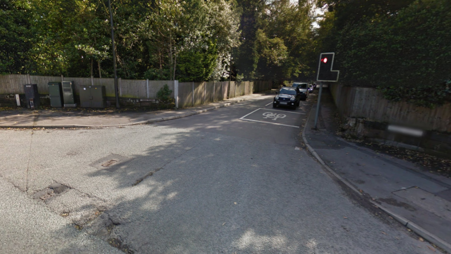 Motorcyclist suffers broken ankles and wrist after a collision in Altrincham