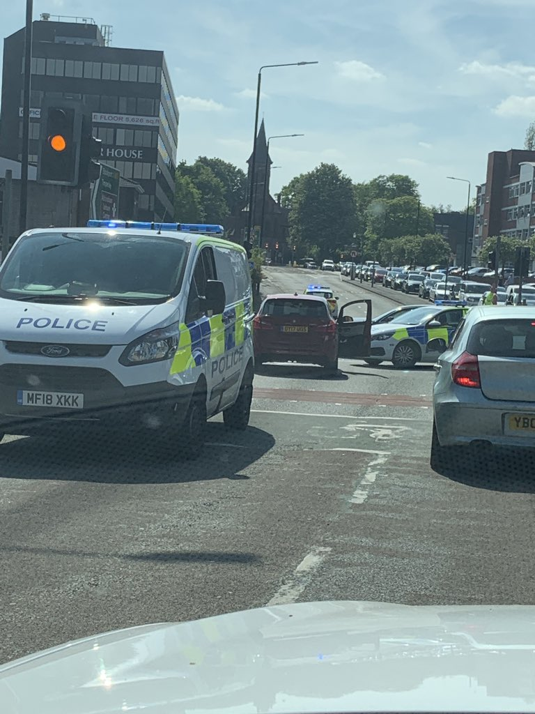 Car Crash In Altrincham Causing Traffic Chaos In The Area