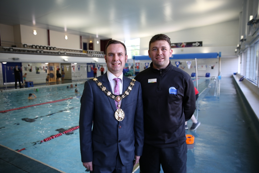Mayor of Trafford with Steven Taylor